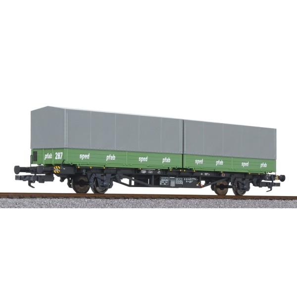 Container Lgjss 571, 2 Wechselpritschen