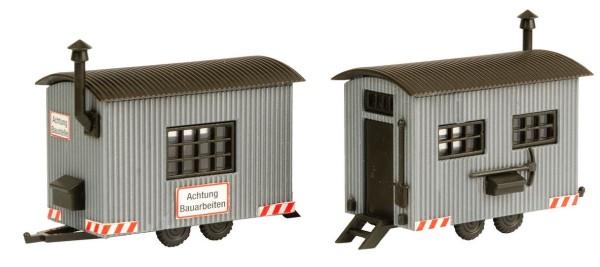 H0-Bauwagen, 2 Stück