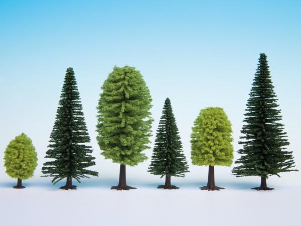 H0/TT-Mischwald, 25 Bäume, 5-14 cm hoch